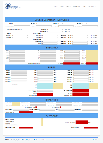 voyage calculator
